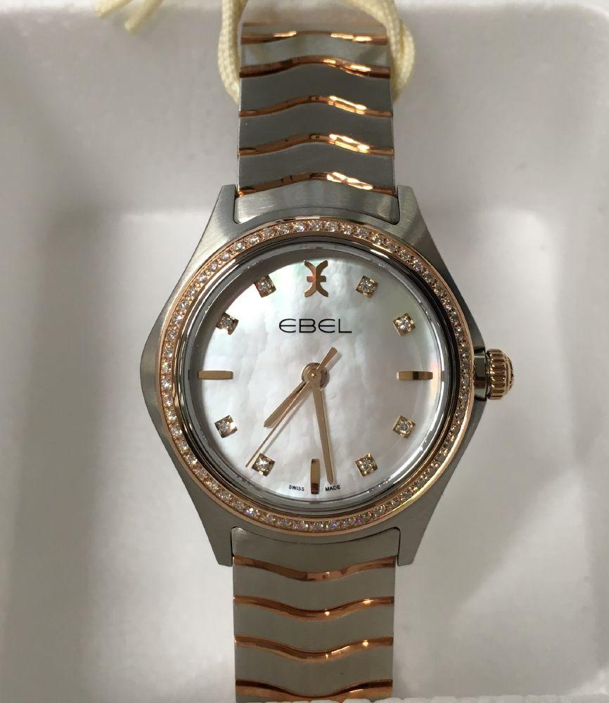 resized_EBEL Wave Lady Quartz Steel & Pink Gold 1216325