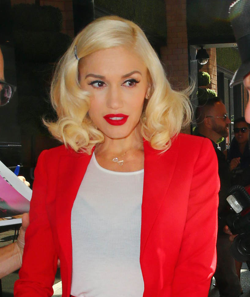 Gwen Stefani out and about in NYC wearing red<P>Pictured: Gwen