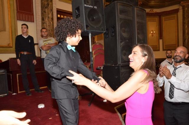 عمرو و احمد سعد يحتفلان بزفاف شقيقتهما (12)