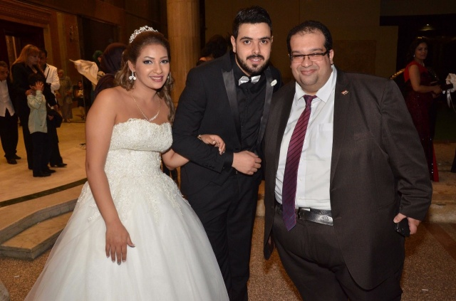 عمرو و احمد سعد يحتفلان بزفاف شقيقتهما (19)