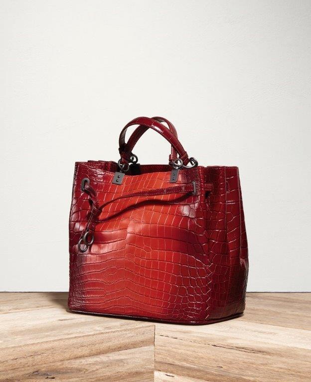 Bottega Veneta SS16 Bucket Bag in Vesuvio Crocodile