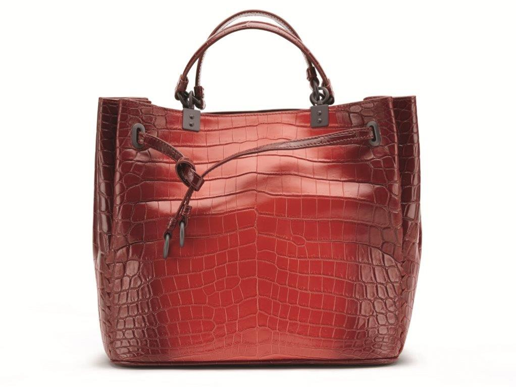SS16 Bottega Veneta Bucket Bag in Vesuvio Crocodile