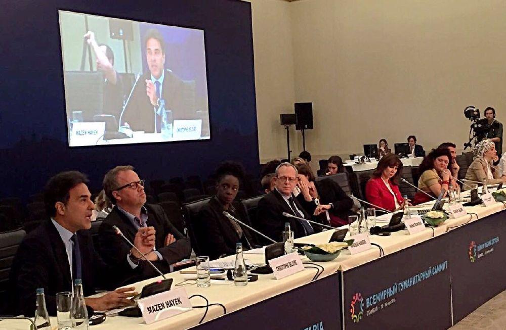 resized_MBC Hope at the 1st. World Humanitarian Summit in Istanbul, Turkey - Panel - Mazen Hayek (1)