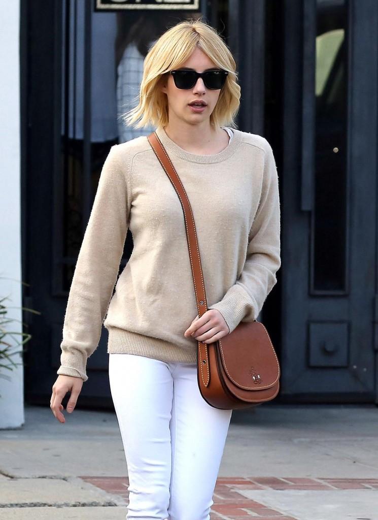 Emma Roberts goes back to Blonde at Nine Zero One