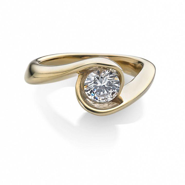 Arctic Circle Diamonds Solitaire Ring