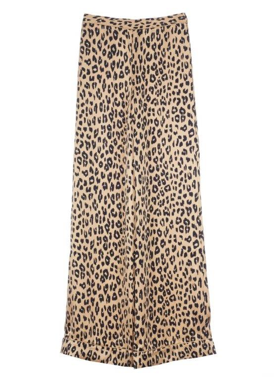 Avery leopard-print washed-silk pajama pants, approx 1748 AED