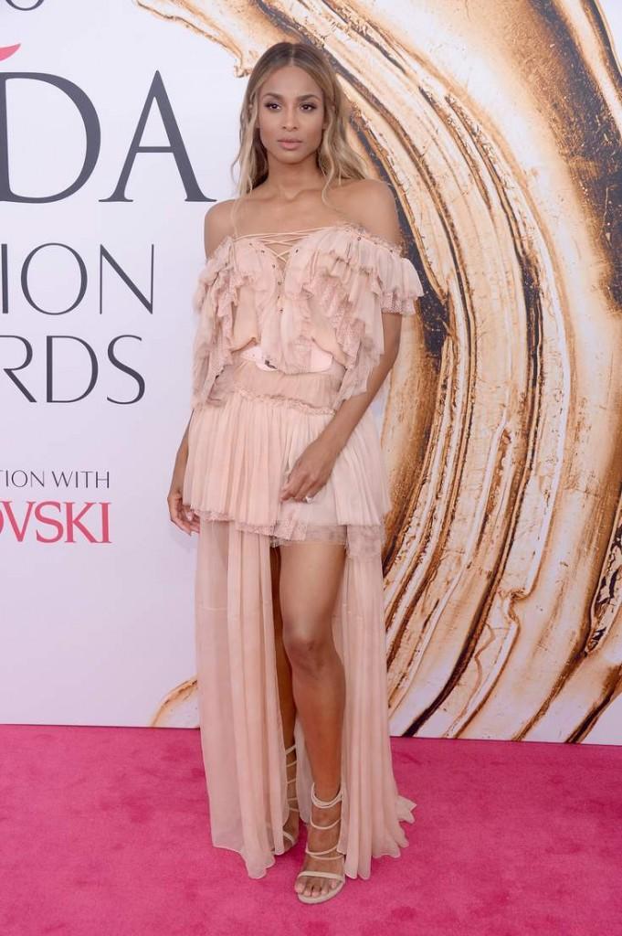 Ciara wearing Stuart Weitzman