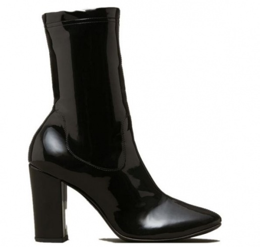 Kenneth Cole Krystal Leather Patent Boots in Black