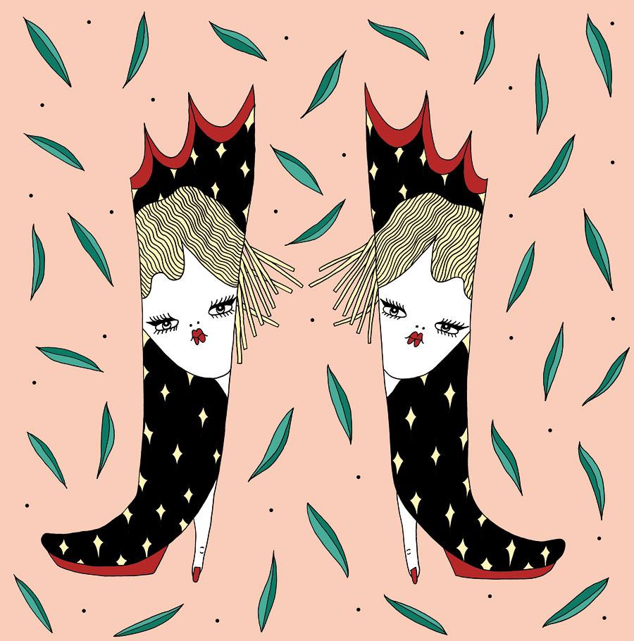 La Fille Bertha _illustration Stivale