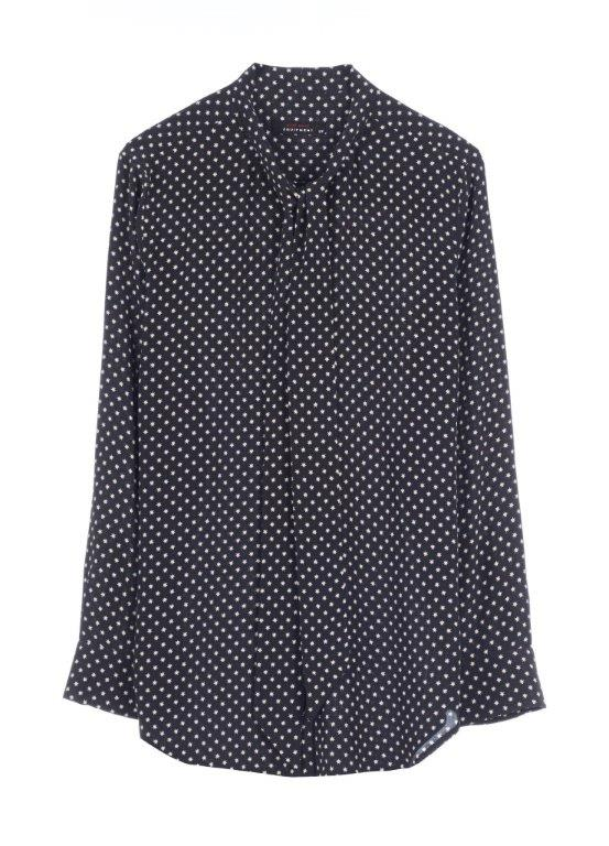 Slim Signature printed washed-silk shirt, approx 1796 AED