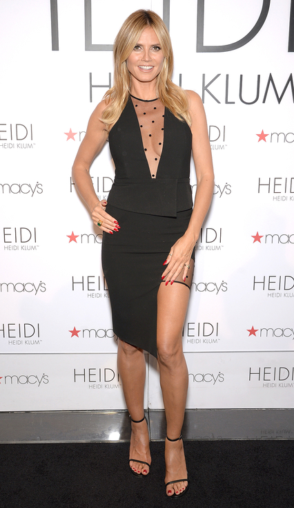 Heidi Klum Hosts Lingerie Ice Cream Truck And Shopping Party For Heidi By Heidi Klum At Macy's Herald Square