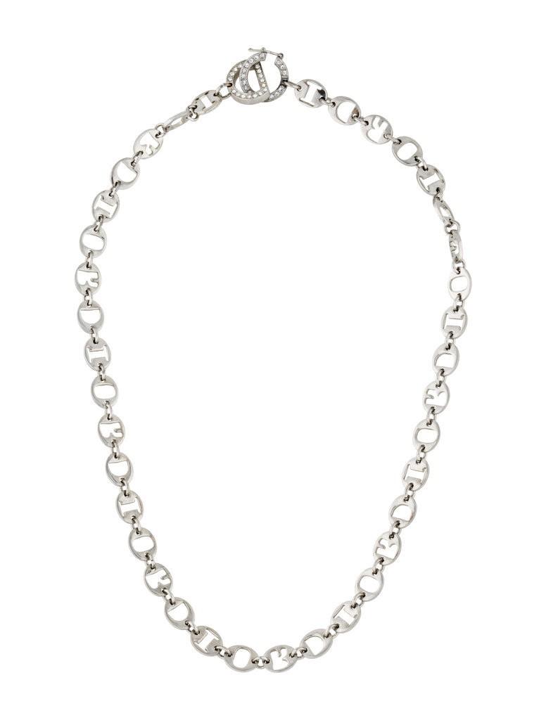 Christian-Dior-Link-Necklace-145