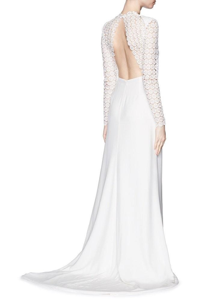 Self-Portrait-Eva-Backless-Silk-Charmeuse-Lace-Wedding-Gown-965