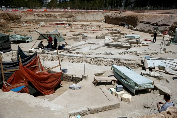 View of the ancient Falyron Delta cemetery in Athens