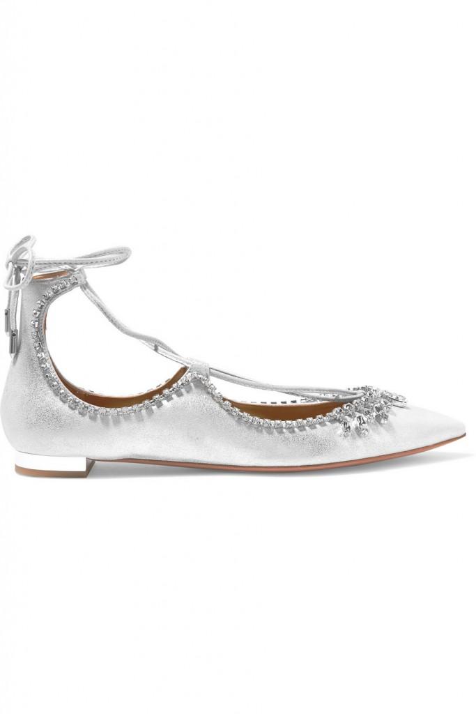 Aquazzura حذاء مسطح من