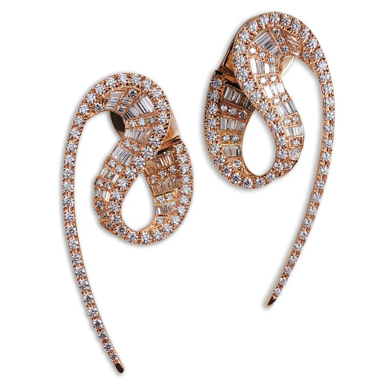 Kavant and Sharart wave Earrings