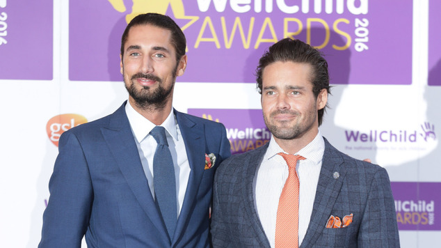Hugo Taylor and Spencer Matthews from Made In Chelsea attend the WellChild Awards