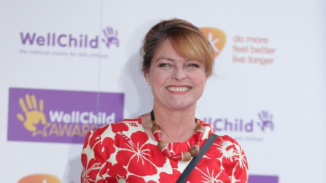 Janet Ellis arrives for the awards