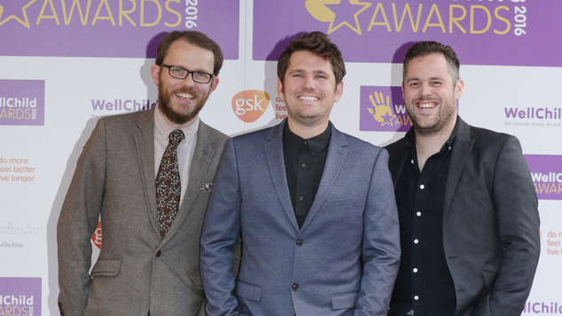 Scouting For Girls arrive for the WellChild Awards