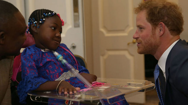 Prince Harry meets Inspirational Child Award Winner Myzat Mugombo
