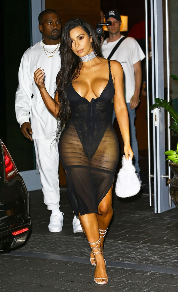 Kim Kardashian and Kanye West Leave Hotel For Night Out In Miami