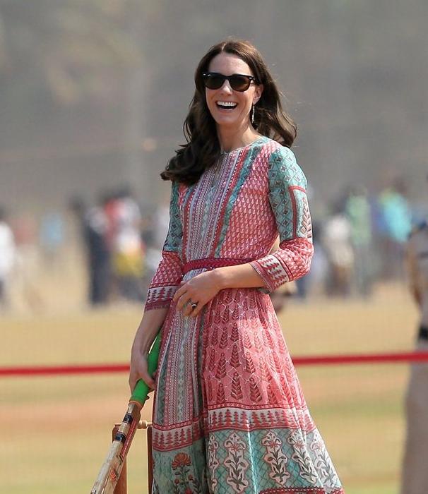 anita-dongre-patchwork-dress-kate-wore-mumbai