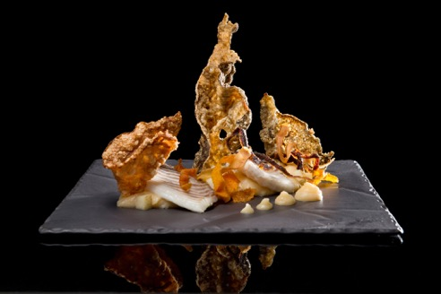 sha-turbot-white-sweet-potato-and-sunchoke-parmentier-and-root-skins