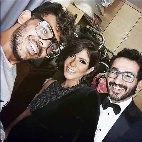إطلالة أحمد حلمي ومنى زكي خلال مهرجان القاهرة السينمائي