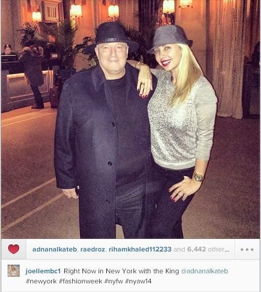 جويل نشرت هذه الصورة مع دنان الكاتب على حسابها على انستغرام