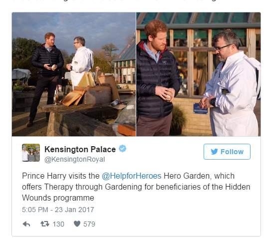 الأمير هاري يزور حديقة الأبطال