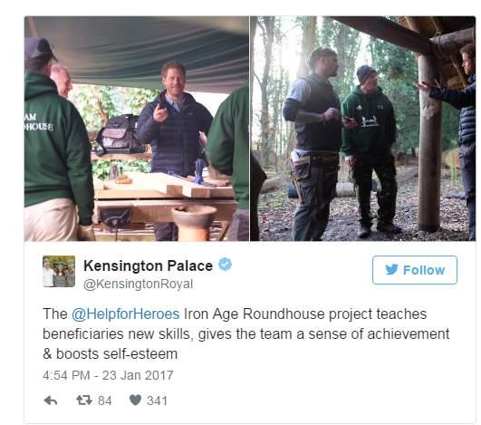 الأمير هاري يلتقي بضباط وجنود مصابين