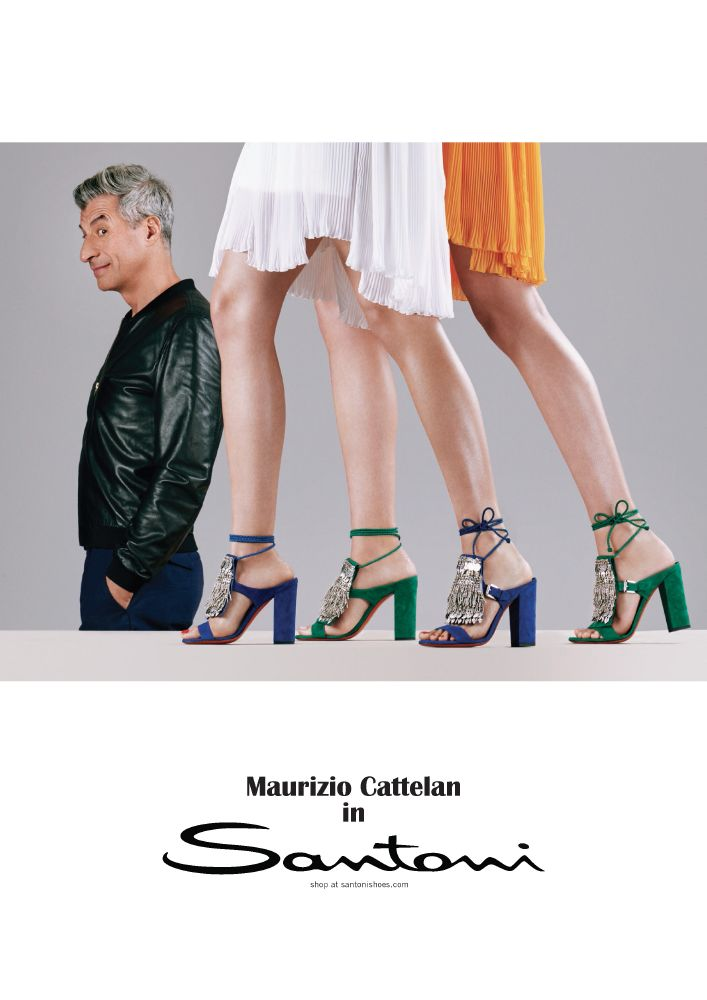 حملة Santoni الإعلانية لموسم ربيع صيف 2017
