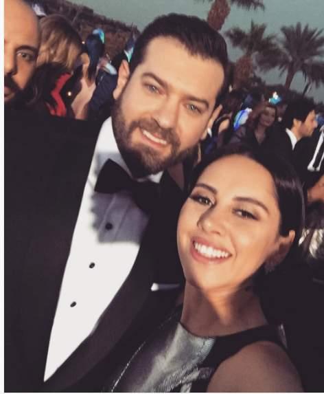 ياسمين رئيس مع عمرو يوسف من زفاف