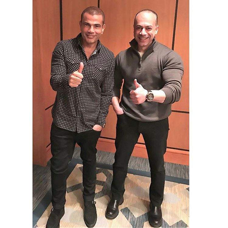 عمرو دياب مع المنتج تامر مرسي