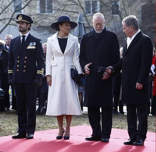 الأميرة فيكتوريا في فاعلية لإحياء ذكرى القتلى من فيلق المتطوعين السويديين