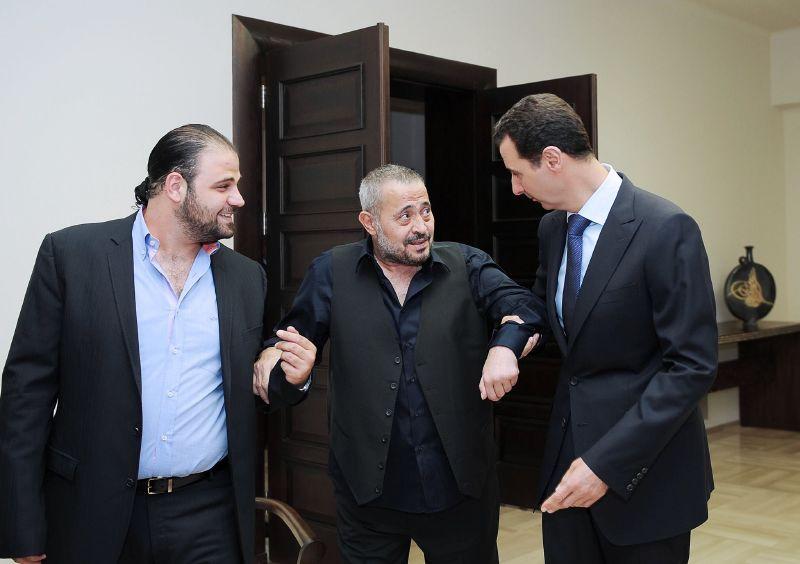 بشار الأسد يطمئن على جورج وسوف