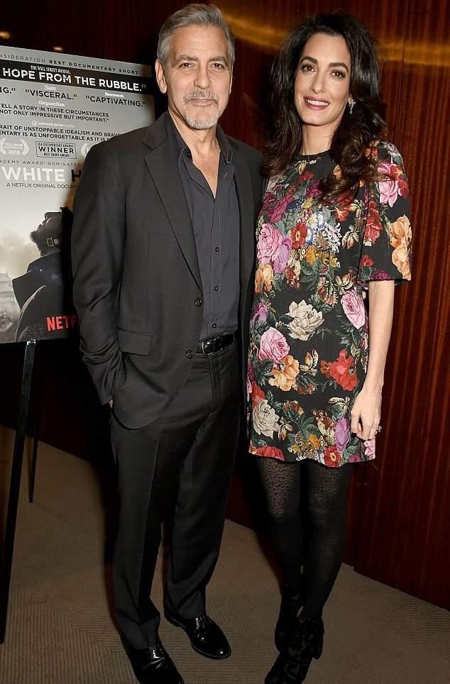 جورج كلوني وزوجته المحامية البريطانية أمل كلوني