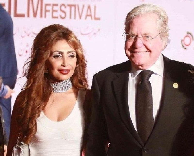 حسين فهمي مع زوجته السابقة رنا القصيبي