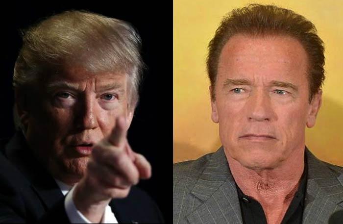سخرية متبادلة وانتقادات بين أرنولد شوارزنيجر و دونالد ترامب