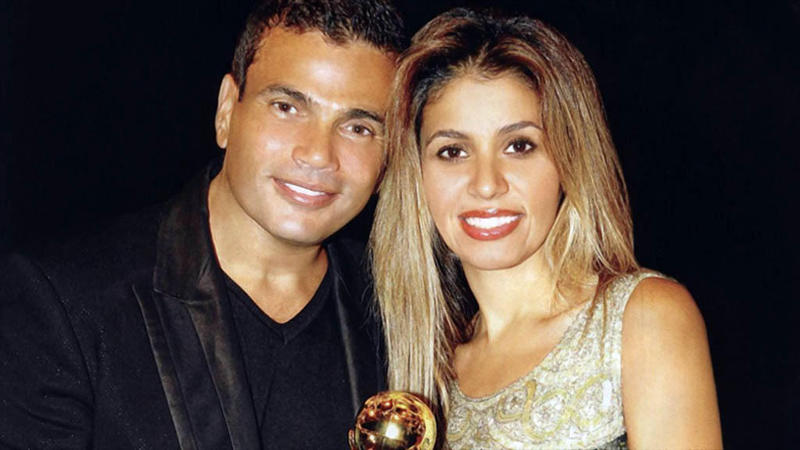 عمرو دياب وزوجته زينة عاشور