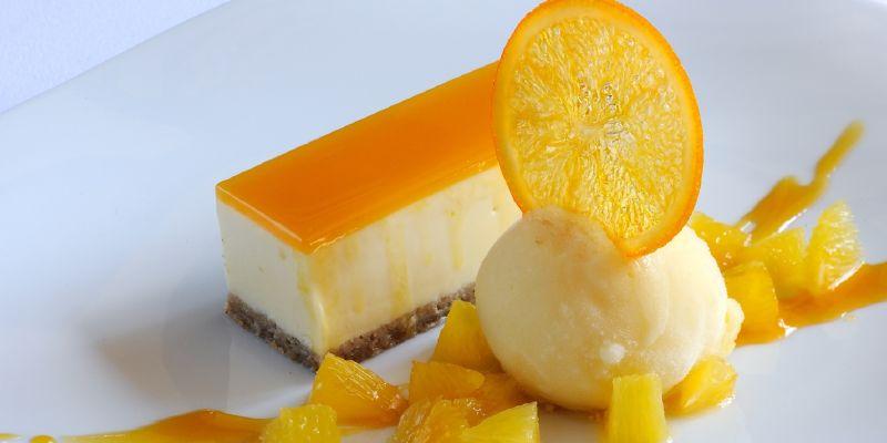 كعكة الجبن بالبرتقال