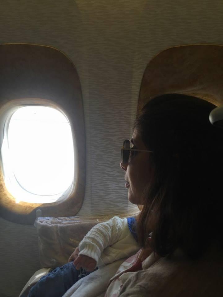 منى زكي تنشر أول صورة لابنها يونس أحمد حلمي