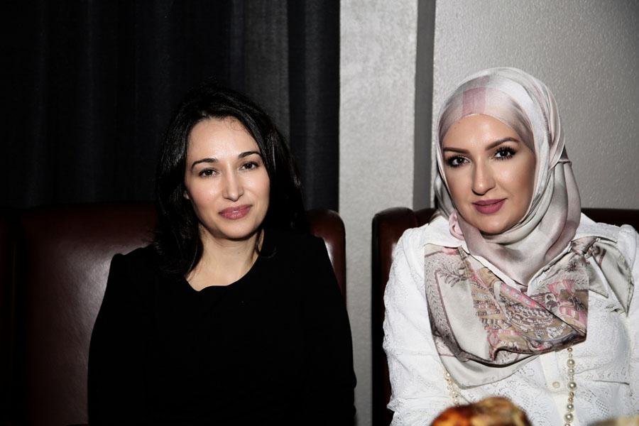مي بدر مع الدكتورة ديمة باسم