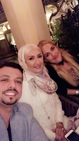 الدكتور مجد ناجي مع السلطانة هويام والدكتورة ديمة باسم