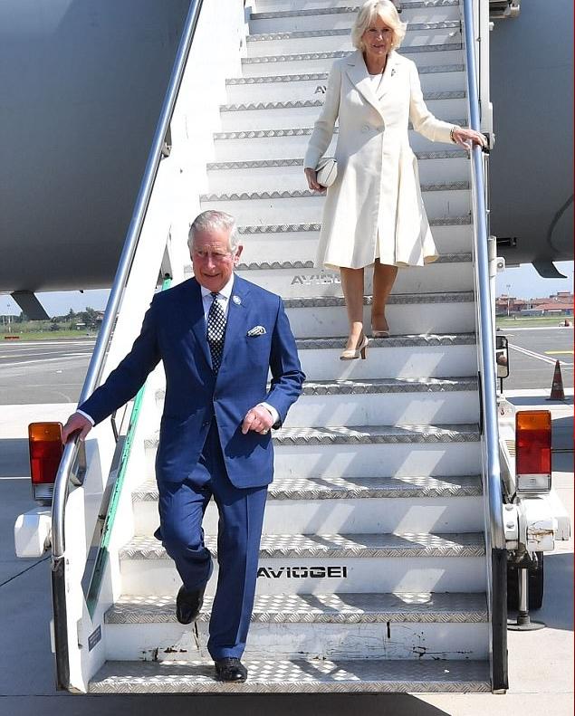 الأمير تشارلز وزوجته كاميلا دوقة كورنوال وصلا روما