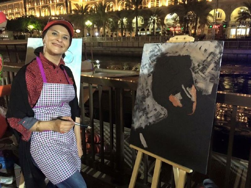 الفنانة التشكيلية هبة الشريف تقدم اول معرض شخصي لها في مصر