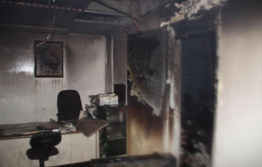 حريق اندلع في غرفة بالدور الثالث في فندق ميريديان