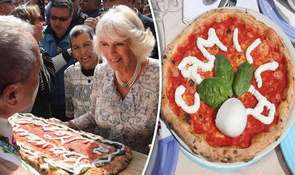 دوقة كورنوال تحصل على بيتزا تحمل اسمها أثناء زيارة الأمير تشارلز إلى إيطاليا