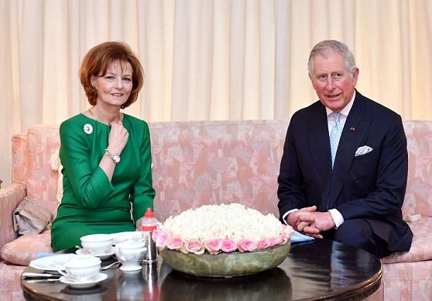 دوقة كورنوال وزوجها الأمير تشارلز