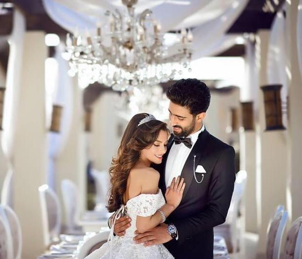 زفاف كارمن سليمان وزوجها الملحن مصطفى جاد